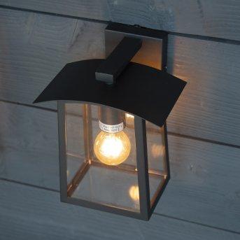 KS Verlichting Motto Aplique para exterior Negro, 1 luz