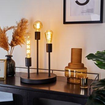 Travesias Lámpara de mesa Negro, 3 luces