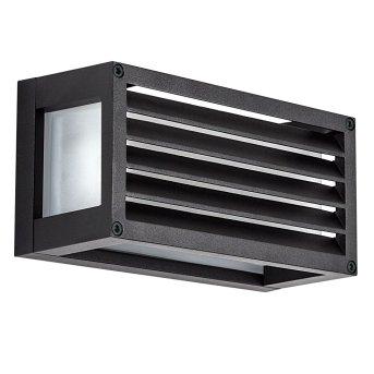 KS Verlichting Bars Aplique para exterior Negro, 1 luz