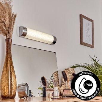 Macaje Aplique LED Cromo, Transparente, claro, 1 luz