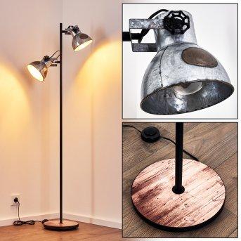 Hora Lámpara de Pie Negro, 2 luces