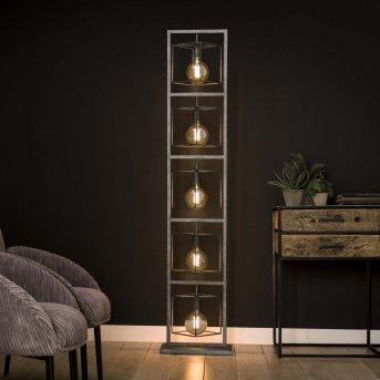 Osmate Lámpara de Pie Plata, 5 luces