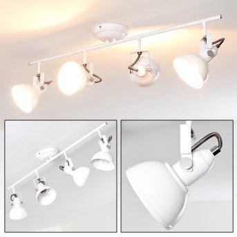 Tina Lámpara de Techo Blanca, 4 luces