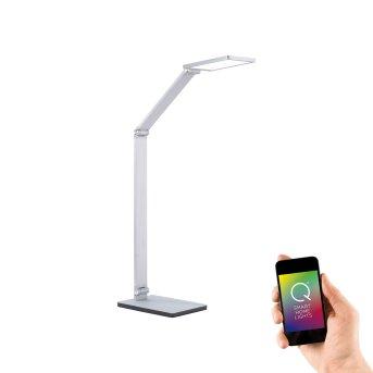 Paul Neuhaus Q-HANNES Lámpara de mesa LED Plata, 1 luz, Mando a distancia