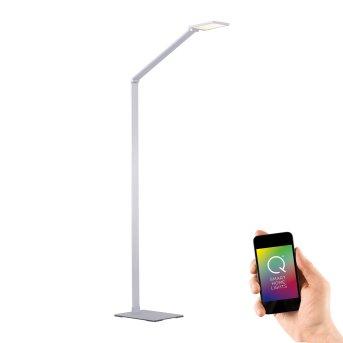 Paul Neuhaus Q-HANNES Lámpara de Pie LED Plata, 1 luz, Mando a distancia