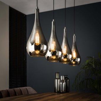 Missirola Lámpara Colgante Plata, 4 luces