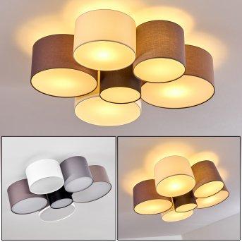 Payette Lámpara de Techo Negro, Gris, Marrón, Blanca, 6 luces