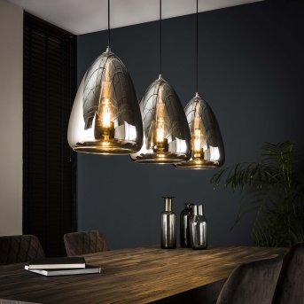 Missirola Lámpara Colgante Plata, 3 luces