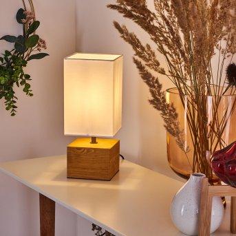Geneva Lámpara de mesa Madera clara, 1 luz