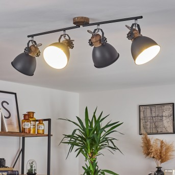 Banjul Lámpara de Techo Gris, Blanca, 4 luces