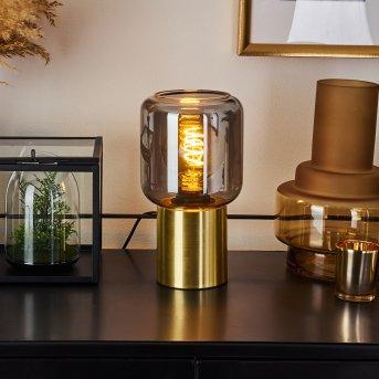 Keppoch Lámpara de mesa dorado, 1 luz