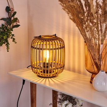 Mongolei Lámpara de mesa Negro, 1 luz