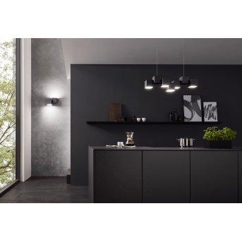 Grossmann ROCKS Lámpara de Techo LED Negro, 5 luces