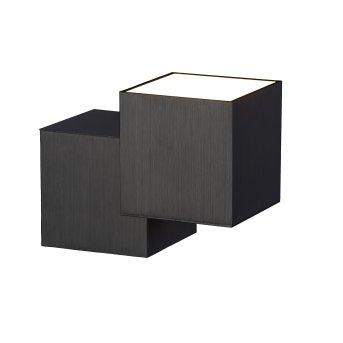 Grossmann ROCKS Aplique LED Negro, 2 luces