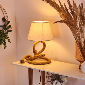 Makondo Lámpara de mesa Marrón, 1 luz