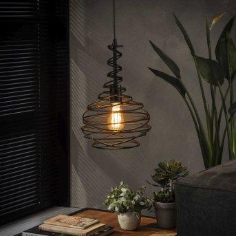 Walterswald Lámpara Colgante Negro, 1 luz