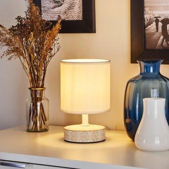 Kigombo Lámpara de mesa Blanca, Colores crema, 1 luz