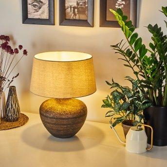 Exchange Lámpara de mesa Marrón, Blanca, 1 luz