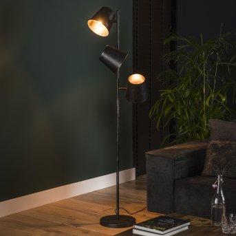 Veroli Lámpara de Pie Negro, 3 luces