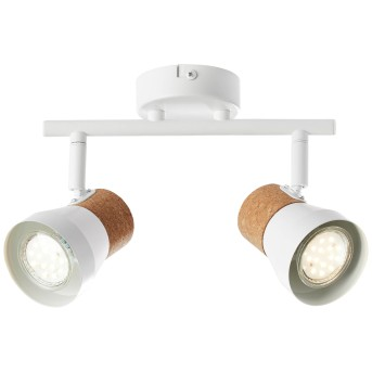 Brilliant Moka Proyector Blanca, 2 luces