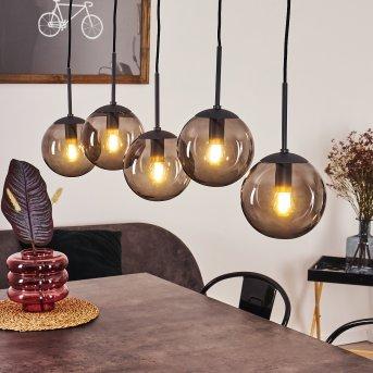 Mesas Lámpara Colgante Negro, 5 luces