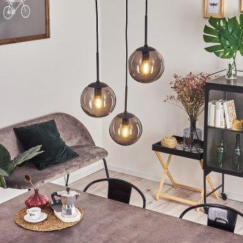 Mesas Lámpara Colgante Negro, 3 luces