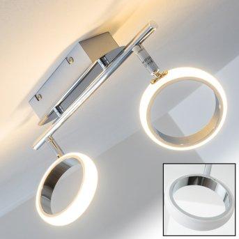 Dobris Foco spot LED Cromo, 2 luces
