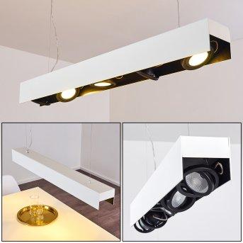 Bacoor Lámpara Colgante LED Negro, Blanca, 5 luces