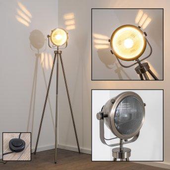 Lambton Lámpara de pie Plata, marrón oscuro, 1 luz