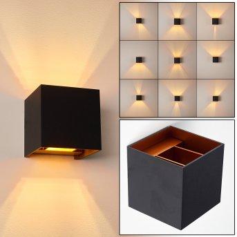 Badajoz Aplique LED Negro, Cobre, 1 luz