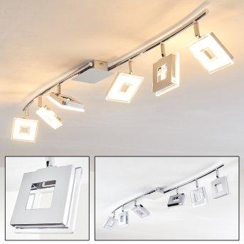 Krakau Foco de techo LED Cromo, 6 luces