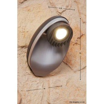 Lutec EGGO Aplique para exterior LED Antracita, 3 luces