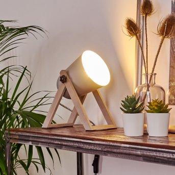 Novilly Lámpara de Mesa Madera clara, 1 luz