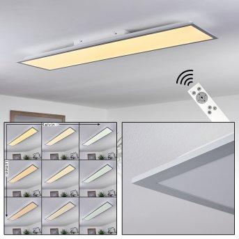 Nexo Lámpara de Techo LED Blanca, 1 luz, Mando a distancia