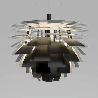 Louis Poulsen PH Artichoke Lámpara Colgante LED Acero inoxidable, 1 luz