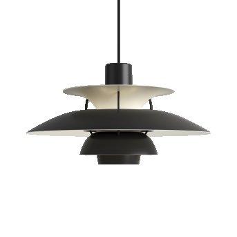 Louis Poulsen PH5 Lámpara Colgante Blanca, Negro, 1 luz