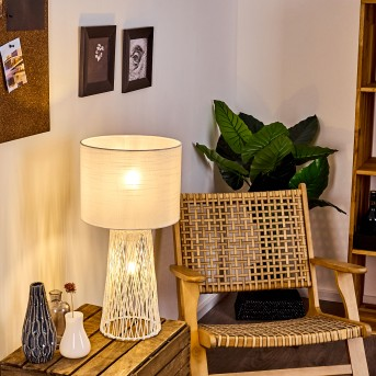 Beteta Lámpara de mesa Blanca, 2 luces