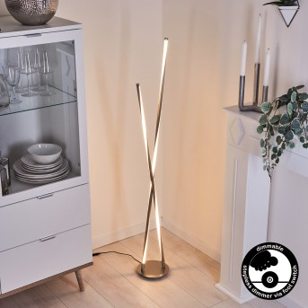Concord Lámpara de Pie LED Plata, 1 luz