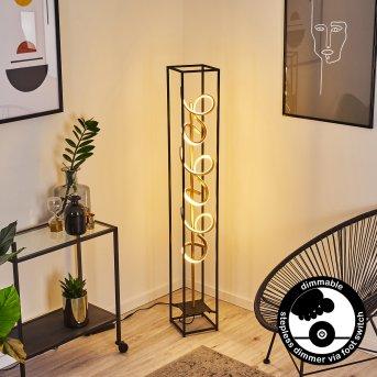 Pericos Lámpara de Pie LED Negro, 3 luces