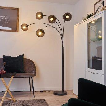 Mesas Lámpara de Pie Antracita, 5 luces