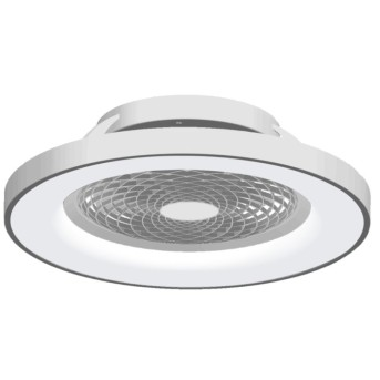 Mantra TIBET Ventilador de techo LED Plata, 1 luz, Mando a distancia