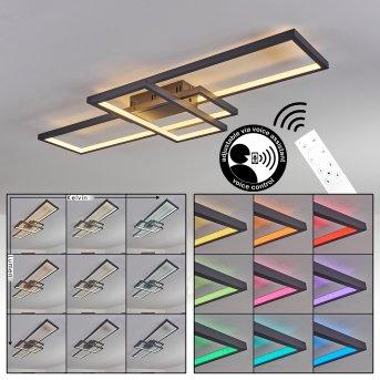 Momahaki Lámpara de Techo LED Antracita, 1 luz, Mando a distancia