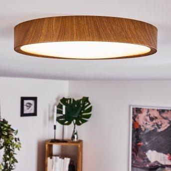 Nexo Lámpara de Techo LED Madera oscura, 1 luz