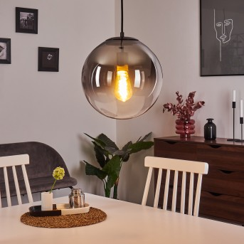 Ahanga Lámpara Colgante Negro, 1 luz