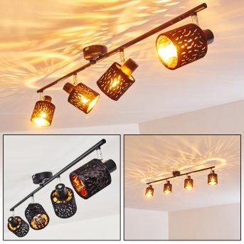 Liared Lámpara de Techo Negro, 4 luces