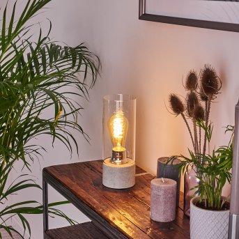 Kumotu Lámpara de mesa Cromo, Gris, 1 luz