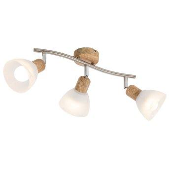Nino Leuchten DAYTONA Lámpara de focos LED Madera clara, 3 luces