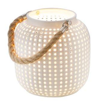 Nino-Leuchten BOLA Lámpara de mesa Marrón, Blanca, 1 luz