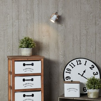 Brilliant Seed Foco de pared Blanca, Madera oscura, 1 luz