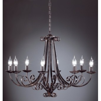 Honsel Pisa Corona Negro, 8 luces